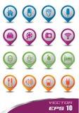 Комплект пастельной краски икон 3d Стоковое Изображение