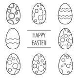 Комплект пасхальных яя на белой предпосылке Стоковые Фотографии RF