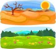 комплект пейзажа 02 Стоковые Фото