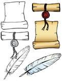 комплект пергамента Стоковое фото RF
