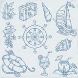 Комплект перемещения Doodle Стоковое фото RF