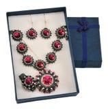 комплект перлы подарка коробки Стоковые Изображения