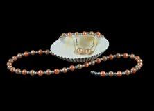 комплект перлы ювелирных изделий Стоковое Изображение