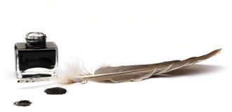 Комплект пер пера абстрактного цвета Стоковое фото RF