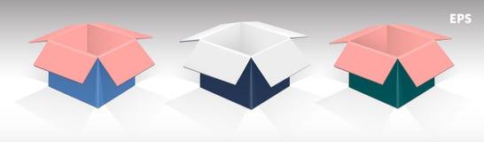 Комплект пестротканых коробок 1 Стоковое Фото