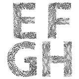 Комплект писем e, f, g и h Стоковая Фотография RF