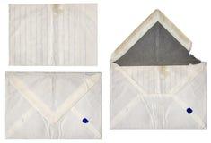комплект письма старый Стоковое фото RF