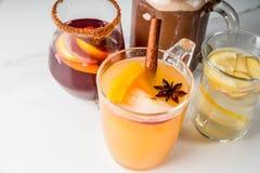 Комплект 4 пить осени Стоковые Изображения