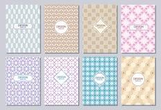 Комплект плаката, рогульки, плакатов, знамен, плакатов, размера шаблонов A6 дизайна брошюры Стоковые Фотографии RF