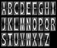 Комплект плакатного шрифта расписания крупного аэропорта Стоковое фото RF