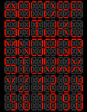 Комплект плакатного шрифта СИД цифров Стоковые Фотографии RF