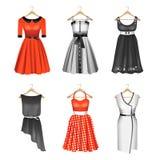 Комплект 6 платьев иллюстрация штока