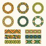 Комплект племенных декоративных элементов Африканская круглая скороговорка орнамента бесплатная иллюстрация