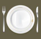 комплект плиты обеда 2 Стоковая Фотография