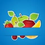 Комплект плодоовощей. Иллюстрация вектора. Стоковое Изображение
