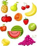 комплект плодоовощ иллюстрация вектора