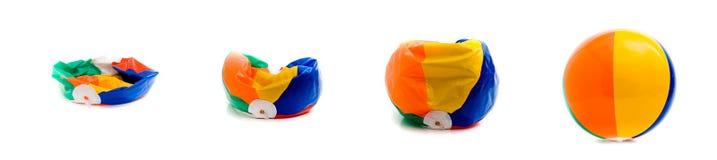 комплект пляжа шарика Стоковая Фотография RF