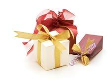 комплект подарка коробок причудливый Стоковые Фотографии RF