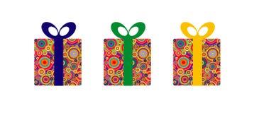 комплект подарка коробок Иллюстрация вектора