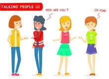 Комплект подруги 2 говоря на белой предпосылке Иллюстрация штока