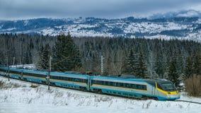 Комплект поезда Pendolino Стоковые Фото