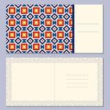 Комплект 4 поздравительных открыток страницы, приглашение, план брошюр с внешним и внутренним распространением с геометрической к бесплатная иллюстрация