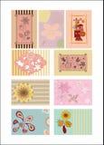 Комплект поздравительных открыток Стоковое Изображение RF