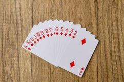 Комплект покера играя карточек Стоковое Изображение RF