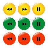 Комплект покрашенного перерыва rewind значков кнопок бесплатная иллюстрация