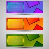 Комплект покрашенного шаблона знамен Шприц концепции design иллюстрация штока