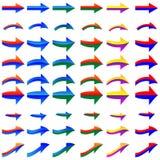 Комплект покрашенных стрелок Стоковая Фотография