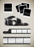 комплект поляроида изображений фото пленки Стоковые Фотографии RF