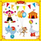 комплект потехи цирка Стоковые Изображения