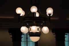 Комплект потолка повиснул янтарное внутреннее освещение Стоковое Изображение