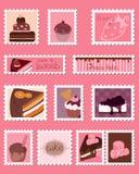 комплект почтоваи оплата штемпелюет сладостный вектор Стоковые Фотографии RF