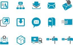 комплект почтовой отправки иконы Стоковое Изображение RF