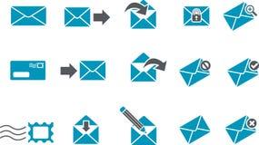 комплект почты иконы иллюстрация вектора