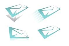 комплект почты иконы Стоковые Фото