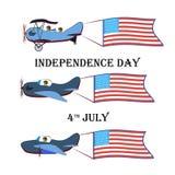 Комплект праздничных воздушных судн на день независимо от Соединенных Штатов Стоковое Фото