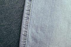 Комплект предпосылки джинсов джинсовой ткани различных выборов Стоковое Изображение RF