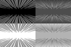 Комплект 4 предпосылки - линии в перспективе также вектор иллюстрации притяжки corel бесплатная иллюстрация