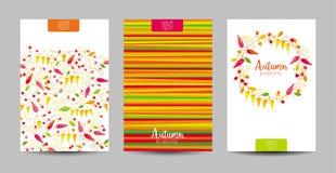 Комплект предпосылки осени флористический Стоковые Изображения RF