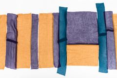 Комплект приказанных прокладок тканей для заплатки Стоковое Фото