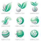 комплект природы логосов Стоковая Фотография