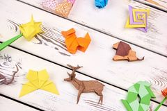 Комплект проектов origami Стоковые Изображения