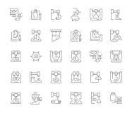Комплект простых значков 3D Bioprinting иллюстрация вектора