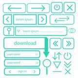 Комплект простых кнопок для вектора EPS10 веб-дизайна Стоковые Изображения RF