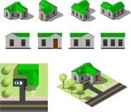 Комплект простых равновеликих домов Стоковое Изображение RF