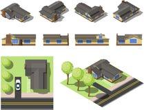 Комплект простых равновеликих домов Стоковое фото RF