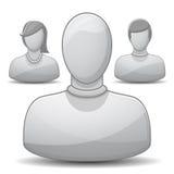 комплект профиля иконы Стоковая Фотография RF